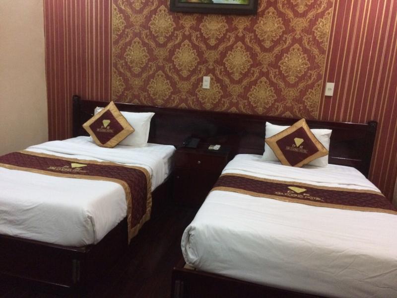 Một góc của phòng nghỉ 2 giường đơn của khách sạn