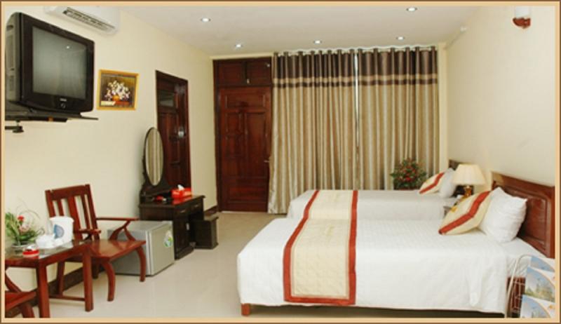 Phòng ngủ đầy đủ tiện nghi của Khách sạn Minh Cường