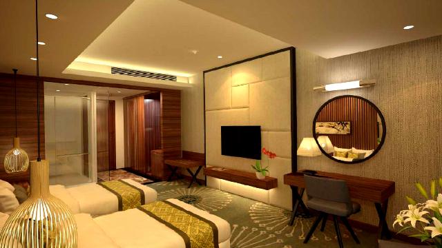Phòng nghỉ tại khách sạn Mường Thanh Nhật Lệ