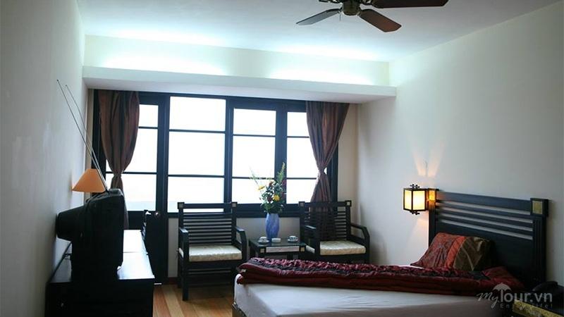 Phòng nghỉ với đầy đủ các tiện nghi của khách sạn