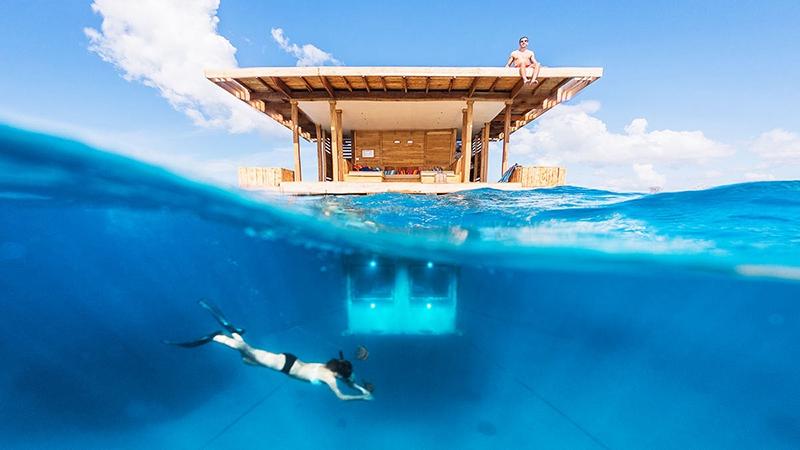 Khách sạn nổi trên đảo Pemba nằm trên Manta Resort ở Zanzibar