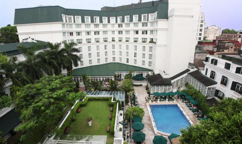 Quang cảnh bao quát toàn bộ khách sạn Sofitel Legend Metropole Hà Nội