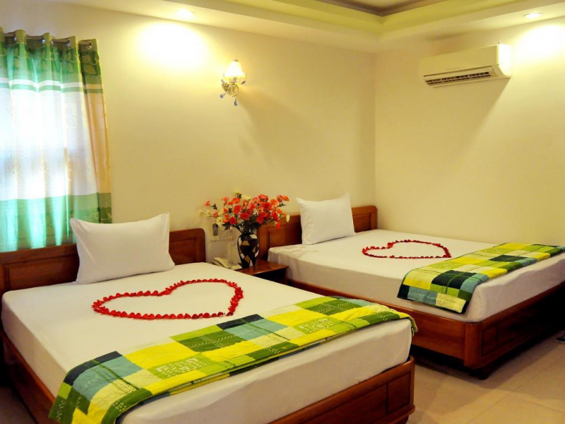 Rooms at the Sunny Sea hotel