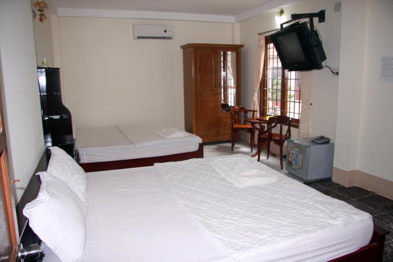 phòng nghỉ với trang thiết bị đầy đủ