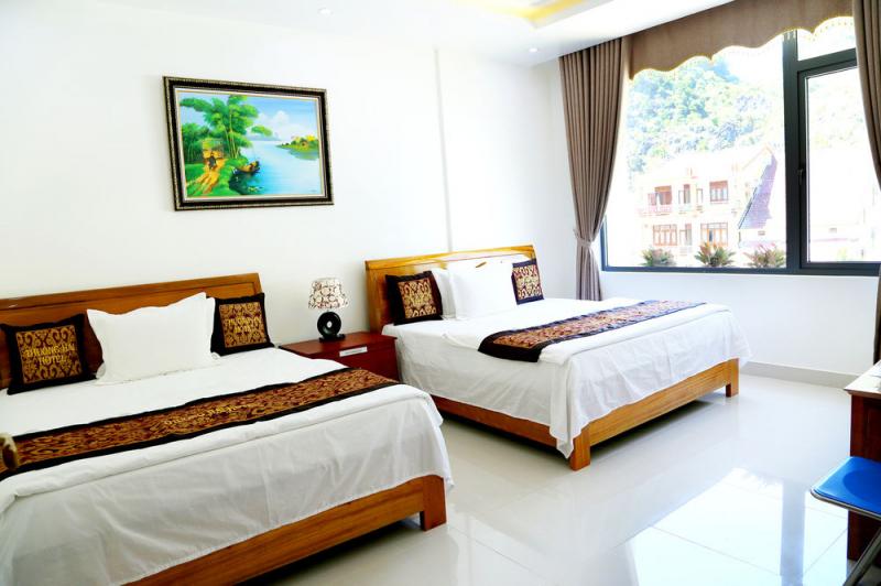 Phòng nghỉ ở đây được thiết kế theo phong cách hiên đại