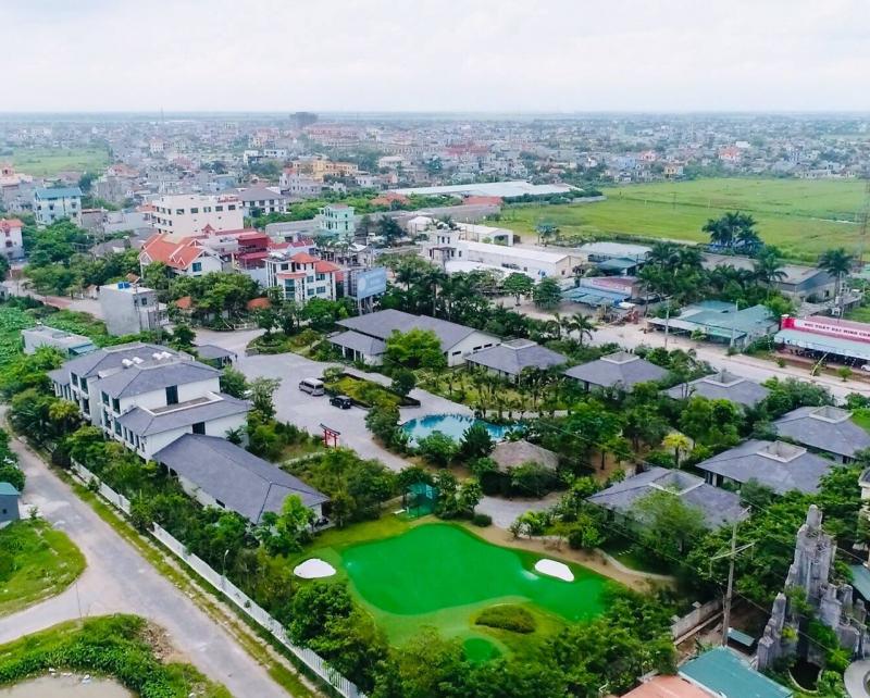 Làng Việt từ trên cao nhìn xuống