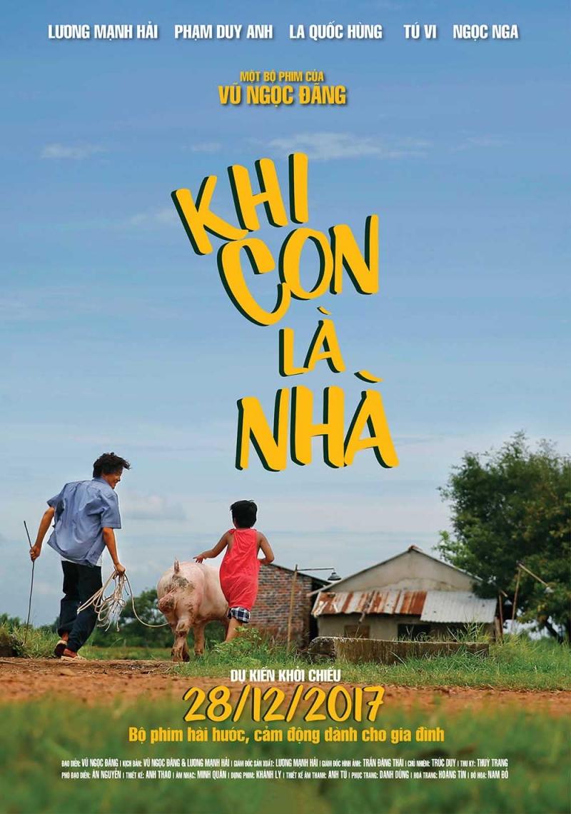 Poster chính thức của phim Khi con là nhà