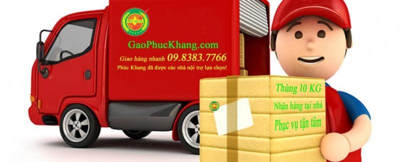 Dịch vụ giao gạo tận nhà của Phúc Khang