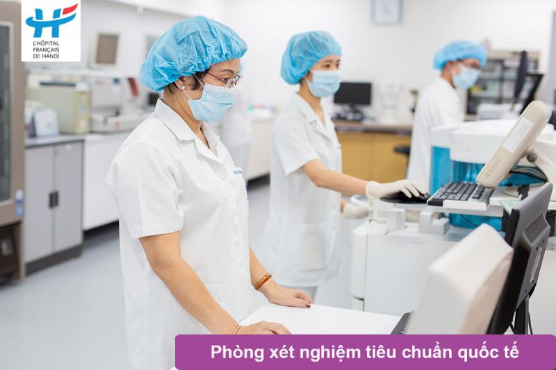 Phòng xét nghiệm tiêu chuẩn quốc tế tại bệnh viện Việt Pháp
