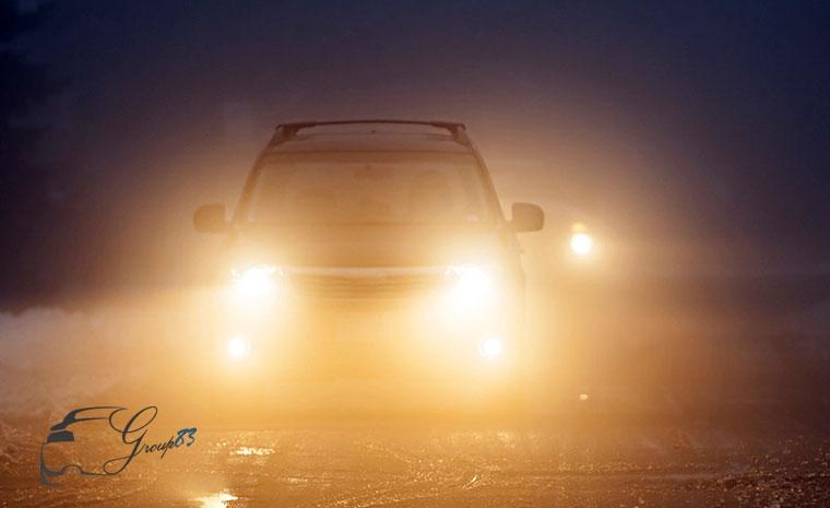 Khi có sương mù phải bật đèn xe