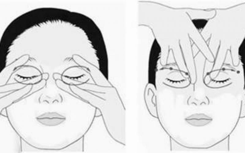 Mát xa giúp mắt được thư giãn tốt hơn