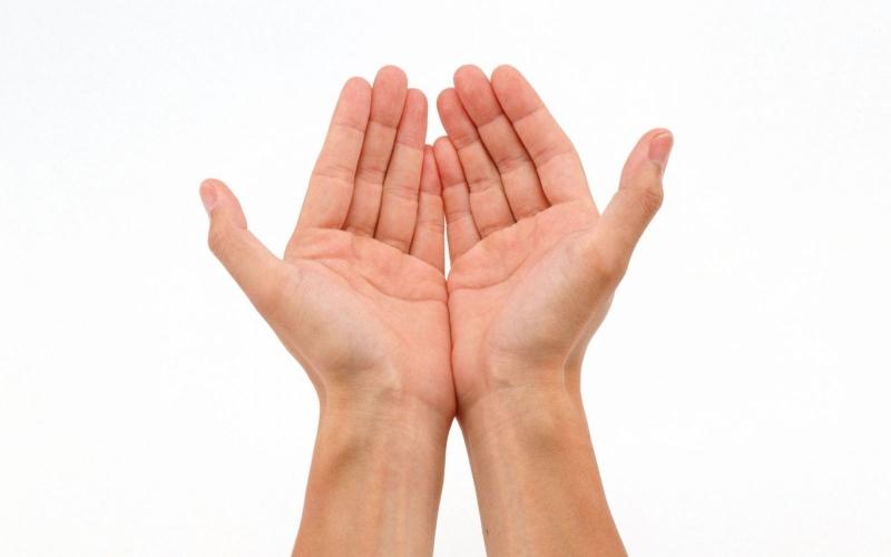 Sử dụng hai bàn tay để tiếp đồ từ người Hồi Giáo