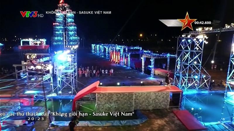 Sân khẩu siêu khủng của Không giới hạn - Sasuke Việt Nam