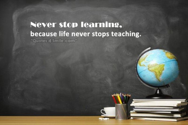 Không học hỏi, bổ sung kiến thức