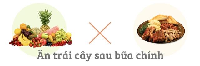 Không nên ăn trái cây sau bữa chính