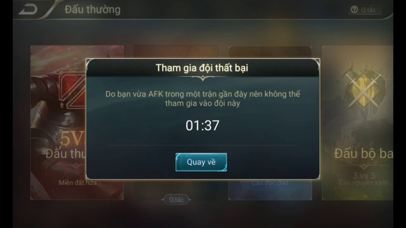 AFK trong game