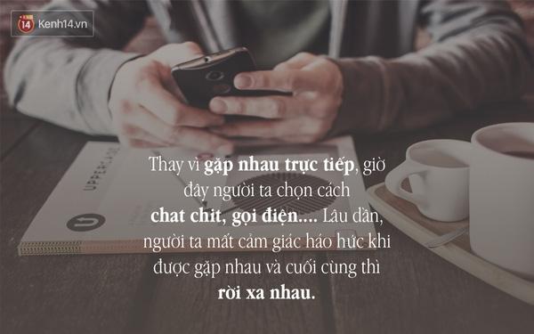 Không nên nói chuyện điện thoại hay chat với nhau quá lâu mỗi ngày