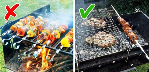 Không nên nướng thịt trên ngọn lửa cháy cháy to