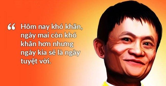 Jack Ma luôn lạc quan trong cuộc sống.