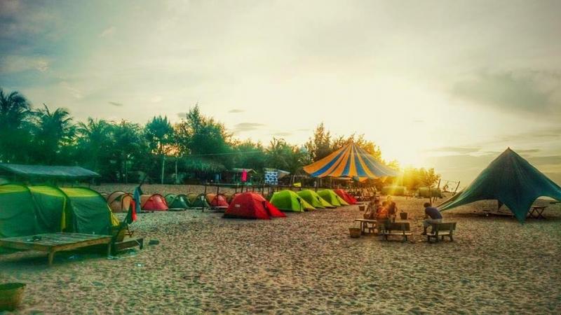 Bãi cắm trại trên cát