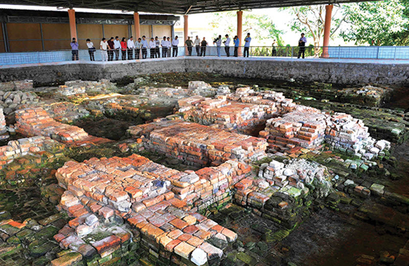 Đây là tàn tích còn sót lại của một cảng biển sầm uất khi xưa
