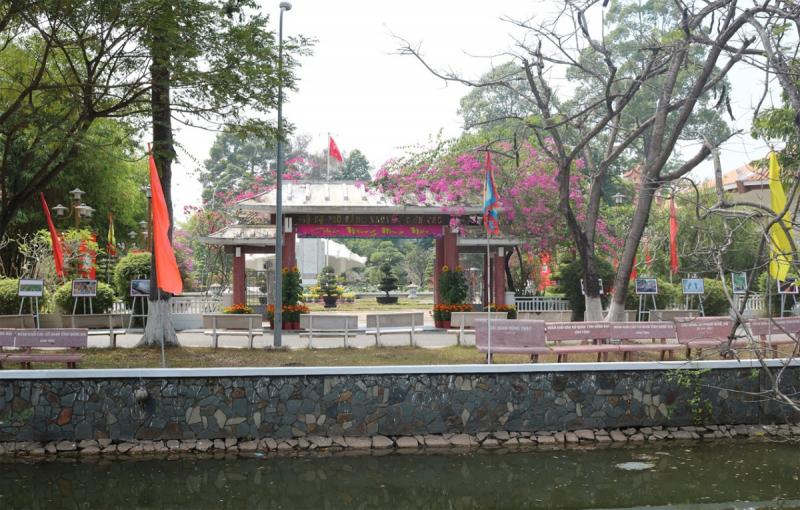 Khu di tích cụ Phó bảng Nguyễn Sinh Sắc nằm ngay trung tâm TP Cao Lãnh