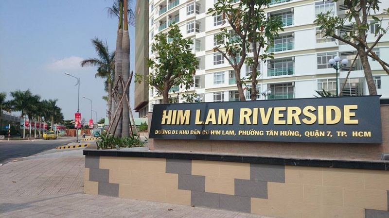 Him Lam urban area is located in the center of District 7, Ho Chi Minh City