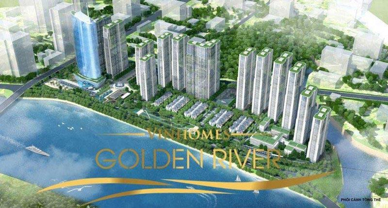 Ảnh chụp trên cao của khu đô thị Vinhomes Golden River.