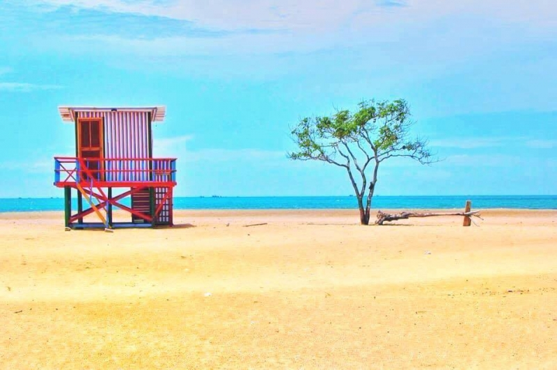 Bãi cát vàng trải dài