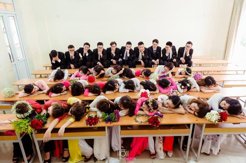 Bức ảnh đáng yêu được thực hiện trong lớp học