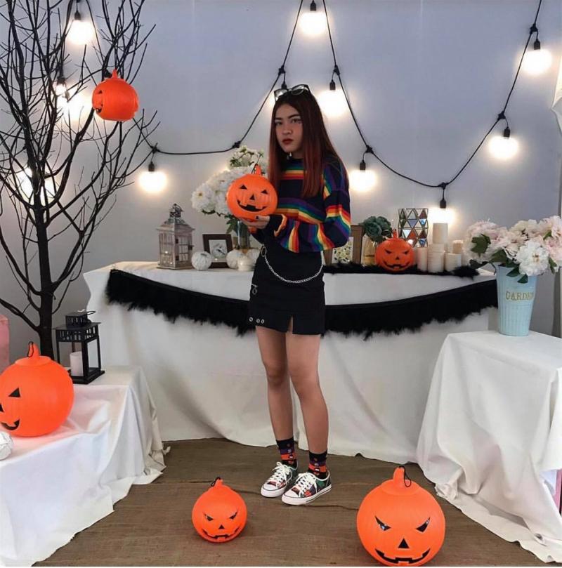 Khu vực trang trí Halloween tại Vincom