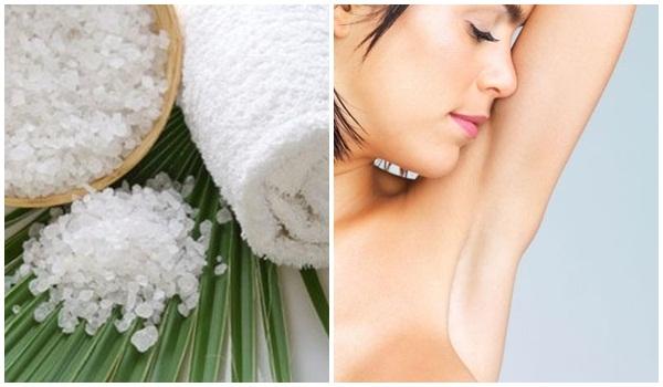 Khử mùi cơ thể bằng muối