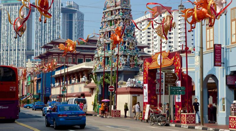 Khu phức hợp ăn uống Chinatown và chợ Kreta Ayer Wet, Singapore