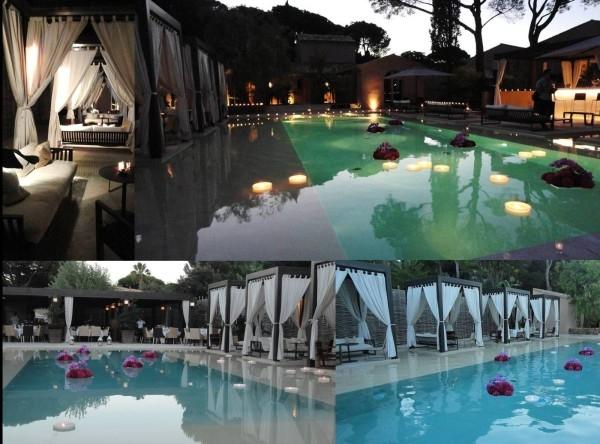 Không gian tiệc cưới tại hồ bơi