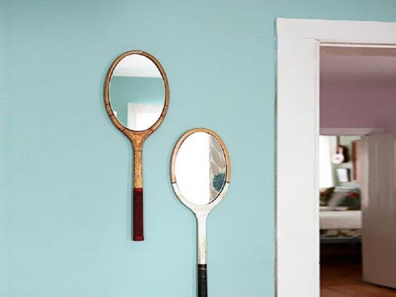 Gương nghệ thuật từ chiếc vợt hỏng