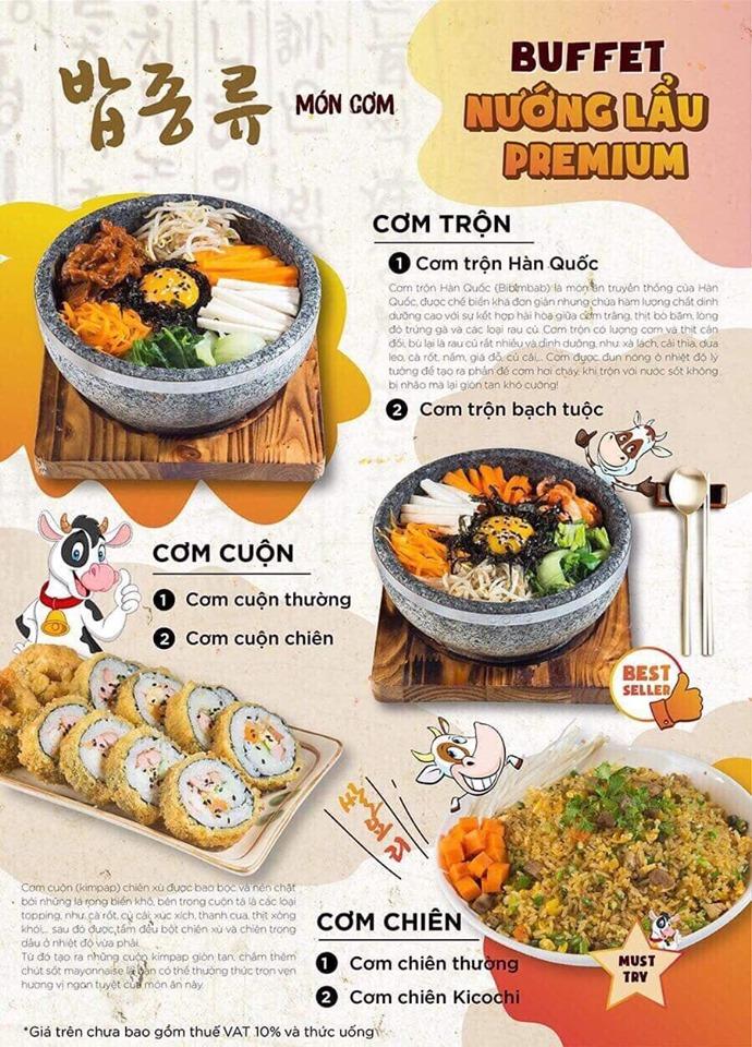 Thực đơn các món Hàn Quốc vô cùng phong phú