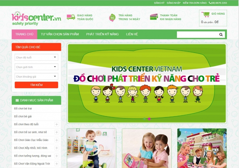 Nhanh chóng cập nhật xu thế bận rộn của thời đại mới, bên cạnh việc tạo không gian trưng bày thoáng mát, tiện nghi, siêu thị Kids Center còn cung cấp đến các bậc phụ huynh dịch vụ giao hàng tận nơi.