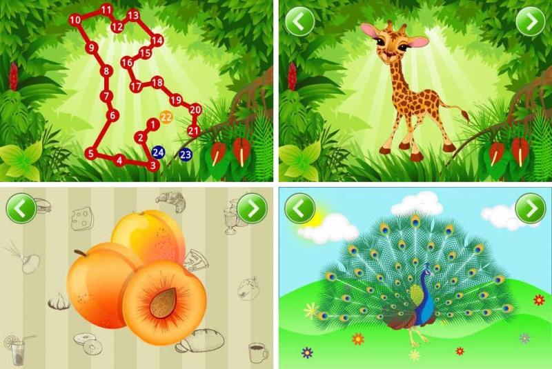 Cách chơi là bé chạm vào một loại các dấu chấm phác thảo hình ảnh của một con vật hay một vật nào đô