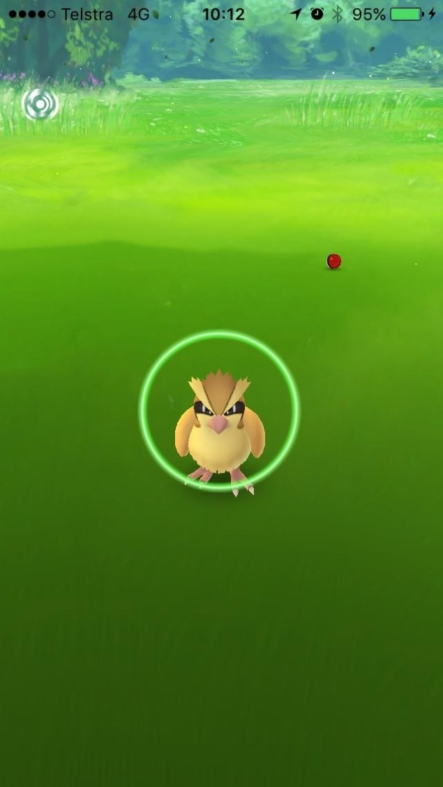 Kiểm tra màu của vòng bao quanh Pokemon
