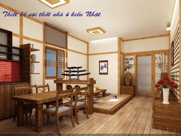 Thiết kế kiến trúc nội thất kiểu Nhật