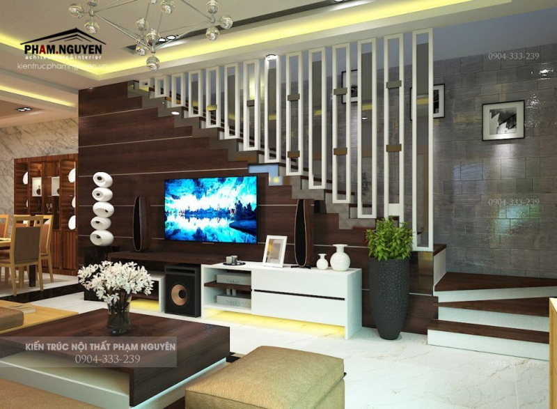 Kiến trúc phòng khách thiết kế bởi Phạm Nguyên