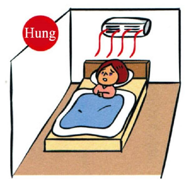 Kiêng kỵ khi kê giường mà đầu giường ngay dưới điều hòa nhiệt độ