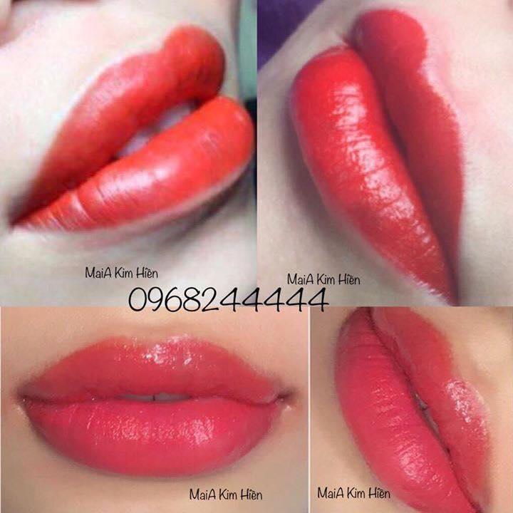 Mẫu môi của khách làm tại Kim Hiền Spa