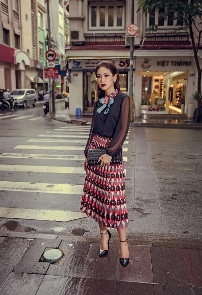Á Khôi 2 Hoa khôi Áo dài Việt Nam 2016 Phạm Phương Linh trong trang phục nữ của Kin Concept