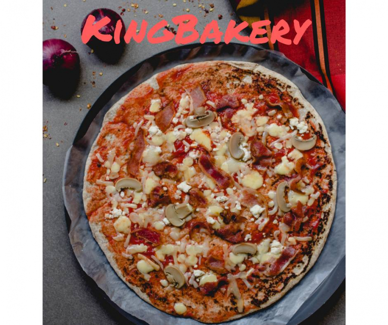 Pizza bò nấm tại King Bakery