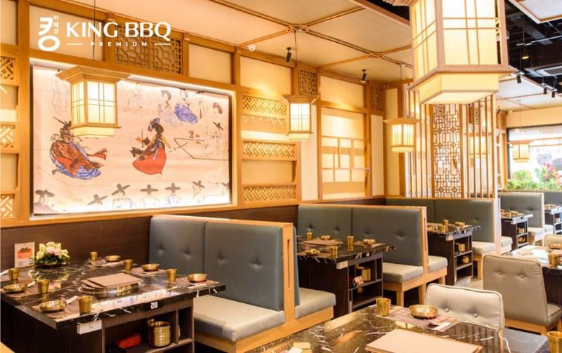 Không gian quán sang trọng tại King BBQ Premium