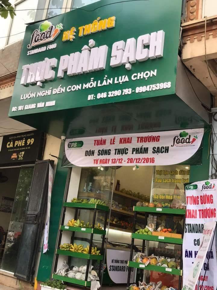 Cửa hàng thực phẩm sạch- nơi đặt niềm tin của khách hành