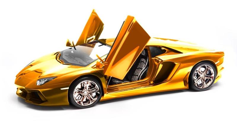 Xe Lamborghini vàng