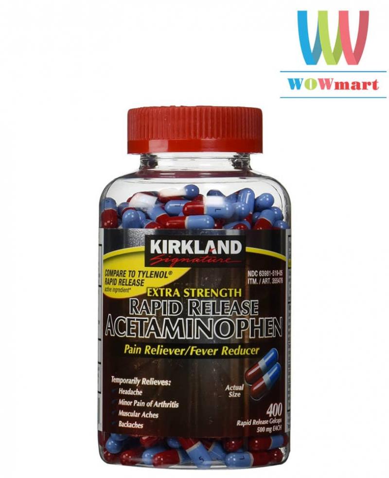 KIRKLAND EXTRA STRENGTH ACETAMINOPHEN 500mg