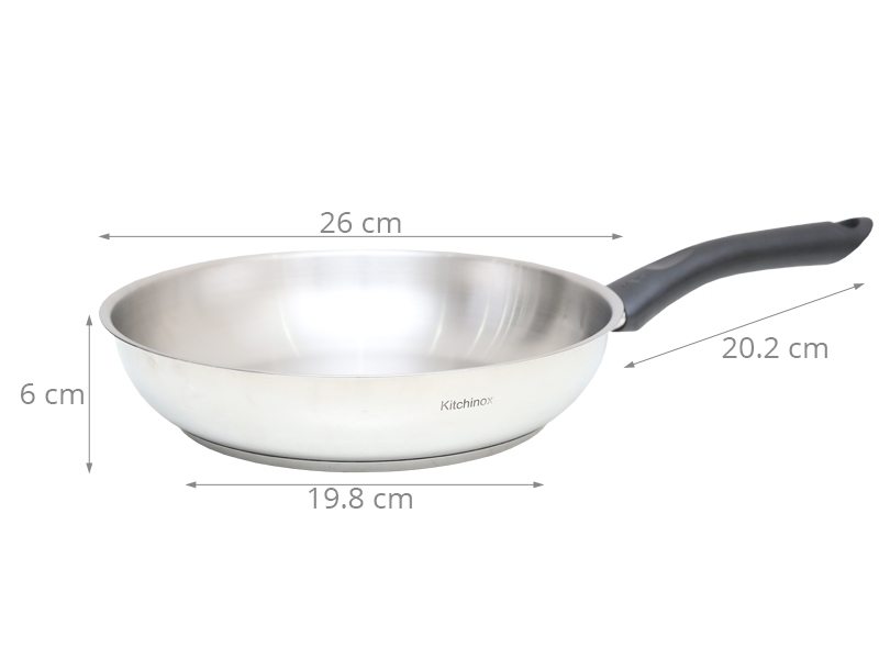 Chảo inox 304 3 đáy Kitchinox KC-26IN 26 cm